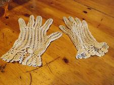 gants de communiante au crochet