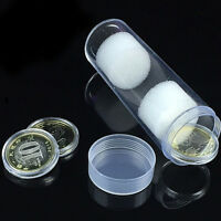 30mm Applied Clear Round Cases Coin Storage Protective Tube Holder Plastic-l