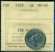 1928 Canada King George V Five Cent ICCS MS-62