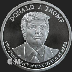 Donald Trump 2020 5 oz .999 silver BU coin 45th President commemorative New MAGA