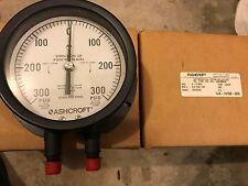 Ashcroft 45-1128-SD-02L-300/300IW DP Gauge - New Surplus