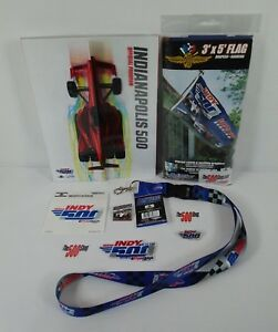 2018 Indy 500 Program Fan Pack Event Pins Patch Banner Decal Lanyard