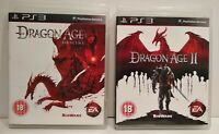 Dragon Age Origins 1 & 2 -Lot 2 Jeux PS3 Region Free UK - Très bon état
