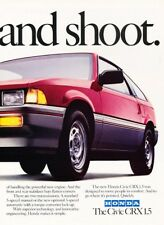 1984 Honda Civic CRX Original 2-page Advertisement Print Art Car Ad J910