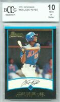 2001 Bowman Jose Reyes Rookie Graded BCCG 10