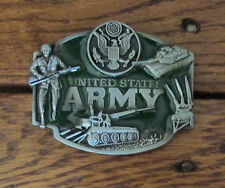 United States US Army Belt Buckle Green Enamel