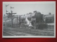 POSTCARD ROYAL SCOT CLASS LOCO NO 46160 'QUEENS WESTMINSTER RIFLEMAN' AT STOCKPO