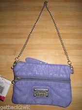 NEW Billabong Peace WALLET Clutch BAG ID VEGAN PU Ladie's Purple