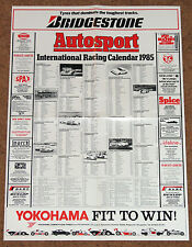 Autosport 1985 INTERNATIONAL RACING CALENDAR -F1 F3 WEC Touring Cars FF2000 Indy