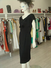 Vtg 50S Molly Modes Jackie O Classic Black Satin Bow Party Cocktail Dress Gown