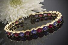 Schmuck Meisterhaftes Tansanit Rubellit Armband mit 56 CT Massiv in 750er Gold