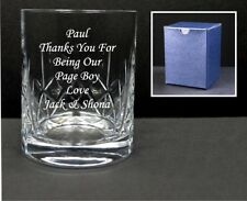 Personalised Crystal Whisky Glass Engraved Birthday Gift Dad, Grandad Present