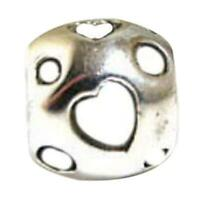 Toc Beadz Smalto Bianco Cuore 9mm Funky Perlina