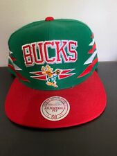 Milwaukee Bucks Mitchell & Ness diamond snapback hat NEW