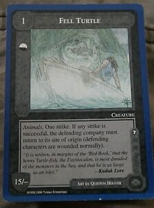 Middle Earth CCG Lidless Eye Wizards Limited Rare Card Fell Turtle