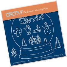 Clarity Stamps Groovi Pergament Prägung A6 Platte Schnee Globus Kontur