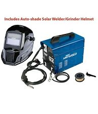 DRAPER 100Amp Gasless/Gas Mig Welder Welding Machine & Flux Wire Tip Mask 16057