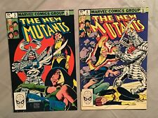 The New Mutants #5 & 6 (1983 Marvel Copper Age) Silver Samurai NICE *HIGH*GRADE*