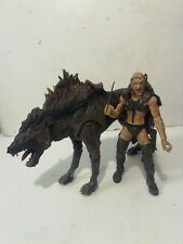 Lord Of The Rings Sharku With Warg Deluxe Beast Rider Set Figues 100% Complete