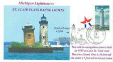 St Clair Flach Range Leuchttürme Michigan Farbe Foto Leuchtturm Bildband Pm