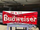 Budweiser Neon Vintage Porcelain Sign Old