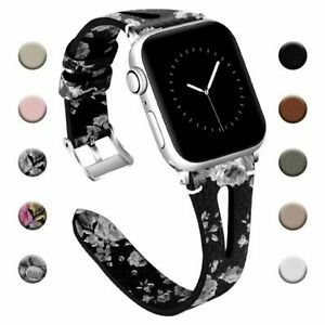 For iWatch Apple Watch Series 5 4 3 2 1 Leather Watch Band Strap 38/40/42/44 mm