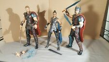 Thor Ragnarok Marvel Legends lot -  2 x Thor + Valkyrie MCU Avengers