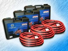 HEAVY DUTY 1 GAUGE 25 FOOT BOOSTER/JUMPER BATTERY CABLES W/ CASE - PACKAGE OF 3