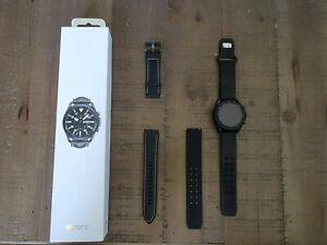 Samsung Galaxy Watch3 SM-R840 45mm Mystic Black Case with Accessories!!