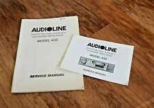 AUDIOLINE 432 CAR RADIO CASSETTE PLAYER SERVICE MANUAL + INSTRUCTIONS RARE
