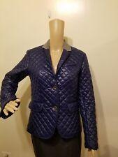 VINEYARD VINES Womens Navy Blue Thin Quilted Blazer Jacket Size 2