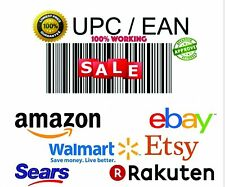 1500 EAN UPC Barcodes For All Marketplace Amazon Ebay Compatible Gs1 Worldwilde