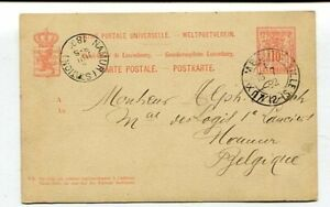 D16593 Luxembourg 1892 Postal Stationery 10c Namur, Belgium