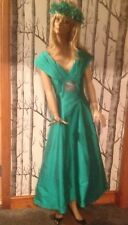 Monsoon green taffeta evening dress