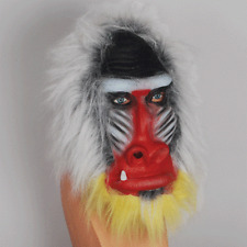 ADULT BABOON MONKEY APE GORILLA MADAGASCAR JUNGLE ANIMAL COSTUME LATEX MASK