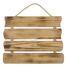 NEW Francheville 4 Slat Raw Wood Hanging By Spotlight