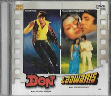 DON / LAAWARIS  -  2 IN ONE FILMS NEW BOLLYWOOD SOUND TRACK CD -  FREE UK POST