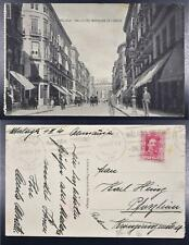 SPAIN 1930 King Alfonso om MALAGA Street & People Pic PPC Card > Germany,Spanien