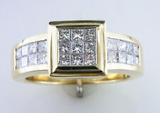 1.50Ct Diamond 18Kt Yellow Gold Diamond Wedding Engagement Ring 10.8 Grams
