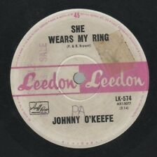 """JOHNNY O'KEEFE   Rare 1964 Aust Promo Only 7"""" OOP Pop Single """"She Wears My Ring"""""""