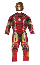 Avengers Ironman Halloween Costume, Jumpsuit and Factory Sealed Mask, Boys Large