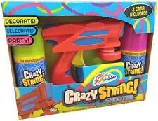 Grafix Crazy Silly String Shooter Spray Gun Blaster, (DECORATE CELECRATE PARTY)