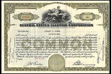 New listing Common Stock. Central States Electric Corporation. January 1940