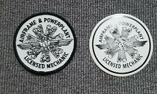 """Vintage Airframe & Powerplant Licensed Mechanic patch & decal 3"""" new Rare"""