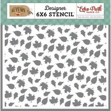 Stencil Sheet 6 x 6 Designer Template Plastic Reusable Echo Park WELCOME FALL
