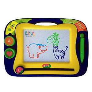 Gojire FunKydz Kids Magnetic Drawing Board - Erasable Colorful Magna Doodle Draw