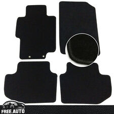 Fit For 03-07 Honda Accord Black Nylon Front & Rear Floor Mats Carpet