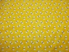 BUMBLE BEES - PATTY REED -100% COTTON - NEW - ADORABLE!!!  HTF 1/2 YARD  PIECE