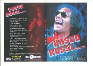 VASCO ROSSI DVD CARPI 85 COSA SUCCEDE IN CITTA TOUR + BONUS SPECIAL TV 85