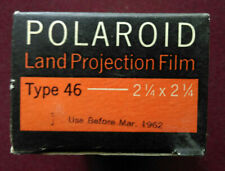 7 boxes of Polaroid type 46 land projection film. Unopened sealed Vintage 1962